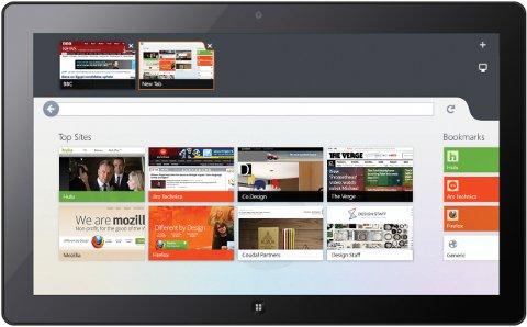 Firefox Metro - Microsoft Surface