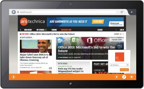 Firefox Metro - Microsoft Surface - Windows 8